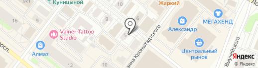Цирюльник на карте Архангельска