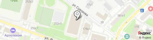 Труд на карте Архангельска