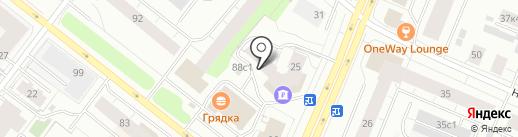 Красное яблоко на карте Архангельска
