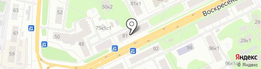 Магазин тканей на карте Архангельска