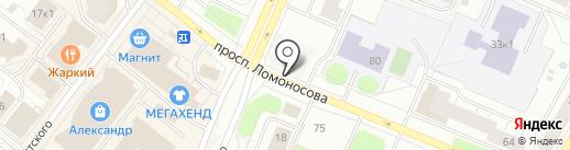 АМЕКС на карте Архангельска