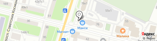 Банкомат, Мособлбанк, ПАО на карте Архангельска