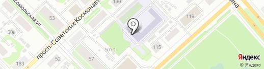 Средняя школа №2 им. В.Ф. Филиппова на карте Архангельска