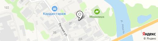 Тис-мебель на карте Боголюбово