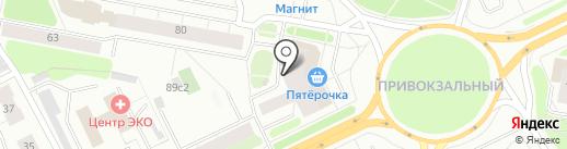 Архангельские уютные балконы на карте Архангельска
