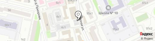 Веселая карусель на карте Архангельска