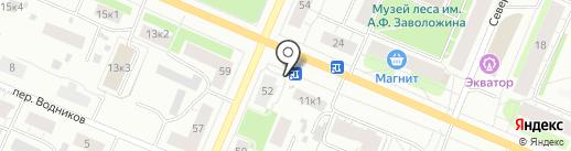 Киоск фастфуда на карте Архангельска