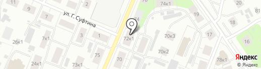 На Розочке на карте Архангельска