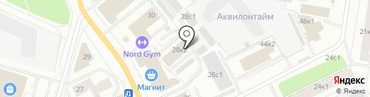 Комплект-Двина на карте Архангельска
