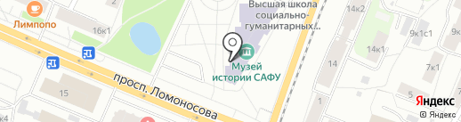 Библиотека на карте Архангельска