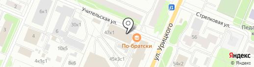 Диамант на карте Архангельска