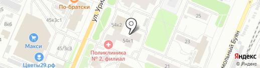 Кардс на карте Архангельска