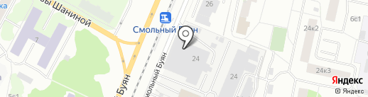 Токарь на карте Архангельска