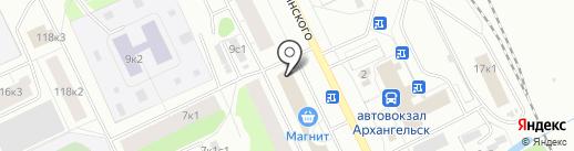 Академия здоровья на карте Архангельска