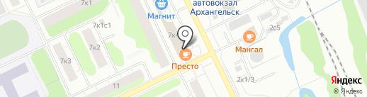 Северный поток на карте Архангельска