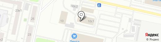 Возовоз на карте Архангельска