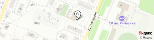 Магазин женского белья на карте Архангельска