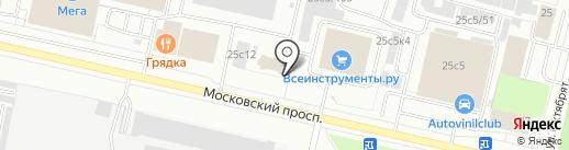 Точка А на карте Архангельска