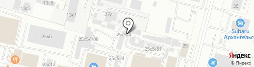 Торгово-установочный центр автостекол на карте Архангельска