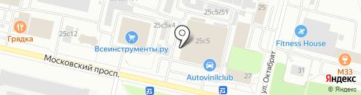 Автоприма на карте Архангельска
