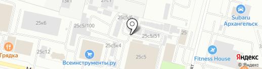 Автоспектр на карте Архангельска