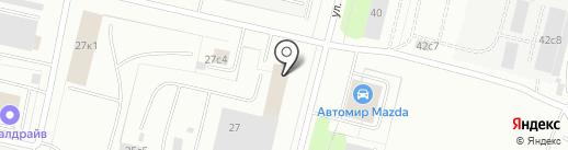 Отдел Пенсионного фонда РФ в административных округах Майская горка и Варавино-Фактория на карте Архангельска