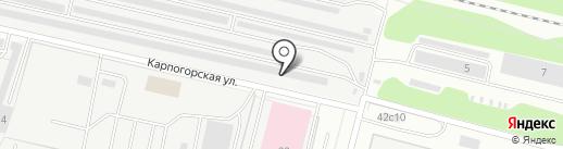 Ломоносовский 3 на карте Архангельска