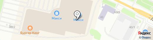 Макси на карте Архангельска