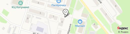 Чудославские на карте Катунино