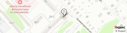 Черняевы на карте Архангельска