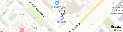 Банкомат, Банк Финансовая корпорация Открытие, ПАО на карте Архангельска