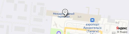 Таможенный пост на карте Архангельска