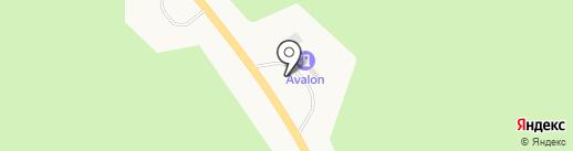 АЗС Avalon на карте Новодвинска
