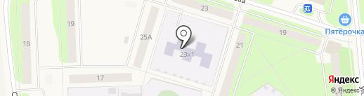 Детский сад №24, Улыбка на карте Новодвинска