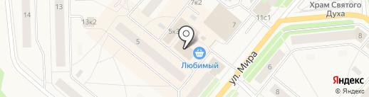 Двинские на карте Новодвинска