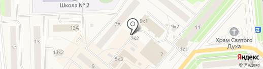 Башмачок-2 на карте Новодвинска