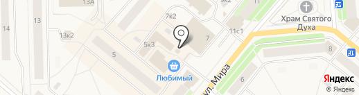 Огородник на карте Новодвинска