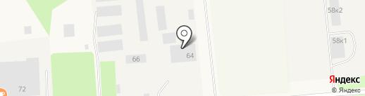 Сети на карте Новодвинска