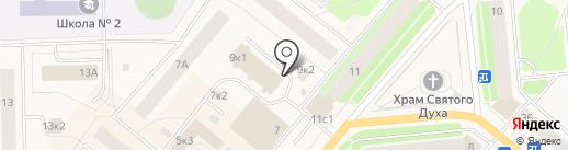 Буше на карте Новодвинска