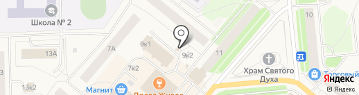 Киоск фастфуда на карте Новодвинска