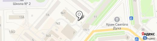 Киоск по продаже цветов на карте Новодвинска