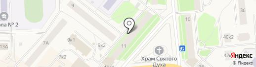 Лап - усик на карте Новодвинска