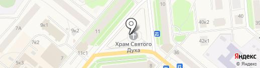 Храм сошествия Святого Духа на карте Новодвинска