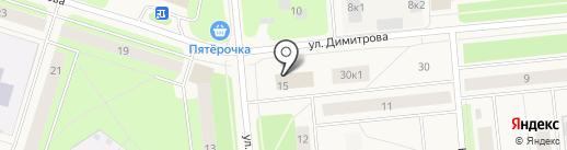 Мастерица на карте Новодвинска