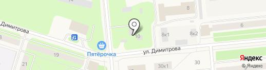 Тауш на карте Новодвинска