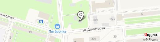 Зодиак на карте Новодвинска