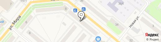Московский Индустриальный Банк на карте Новодвинска