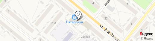 Ключ на карте Новодвинска