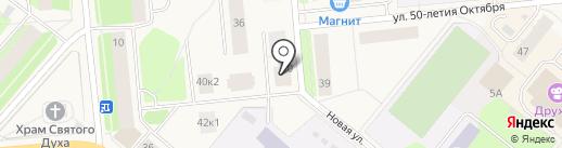 Три ползунка на карте Новодвинска