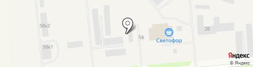 КТА на карте Новодвинска